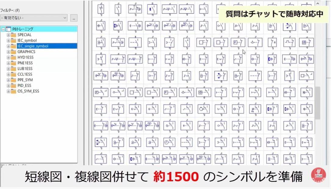 VC_電気設計_スクリーンショット_単線図複線図シンボル